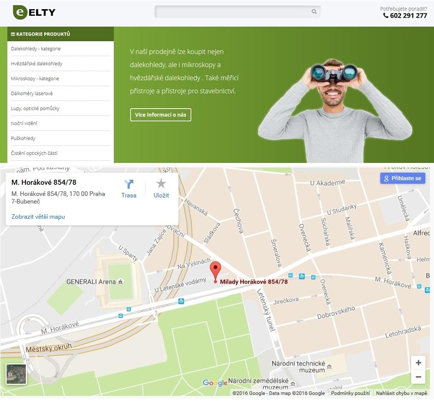 Prodejna Elty s.r.o. dalekohledy a mikroskopy