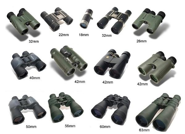 Průměry objektivů dalekohledů